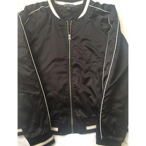 Forever 21 Plus • Black California Bomber Jacket
